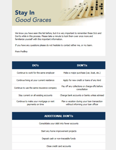 Stay in Good Graces