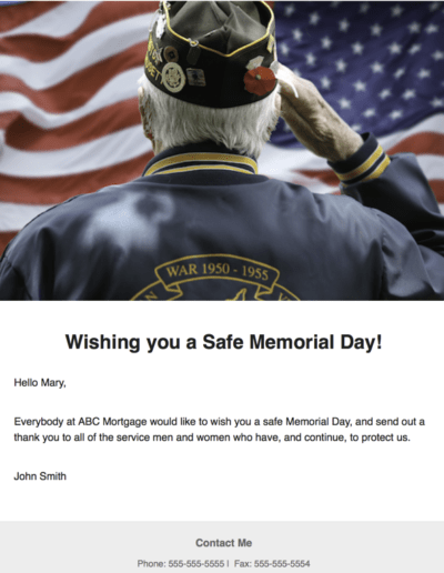Happy and Safe Memorial Day
