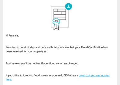 Flood Certification Received