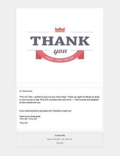 Thank You | MLO to Realtor